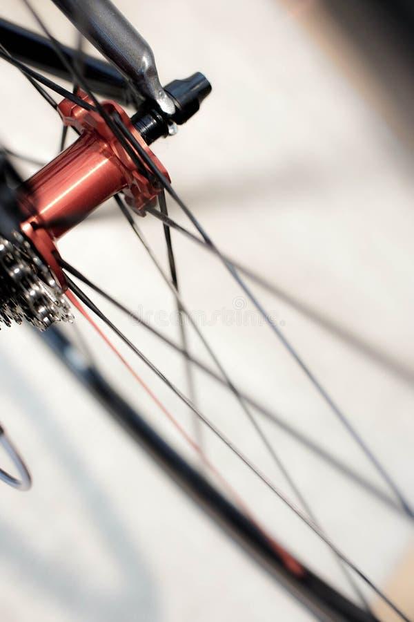 Αθλητικός bicyclerear άξονας με τις ρόδες στην κίνηση στοκ εικόνα