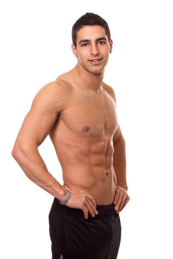 Αθλητικό άτομο Shirtless στοκ φωτογραφία με δικαίωμα ελεύθερης χρήσης