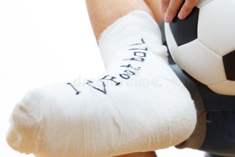 Αθλητικό ασβεστοκονίαμα ποδοσφαιριστών ποδοσφαίρου, ενίσχυση στοκ εικόνες με δικαίωμα ελεύθερης χρήσης