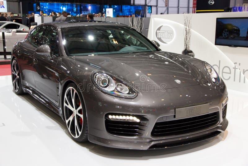 2015 αθλητικό αυτοκίνητο TechArt diesel της Porsche Panamera στοκ φωτογραφία με δικαίωμα ελεύθερης χρήσης