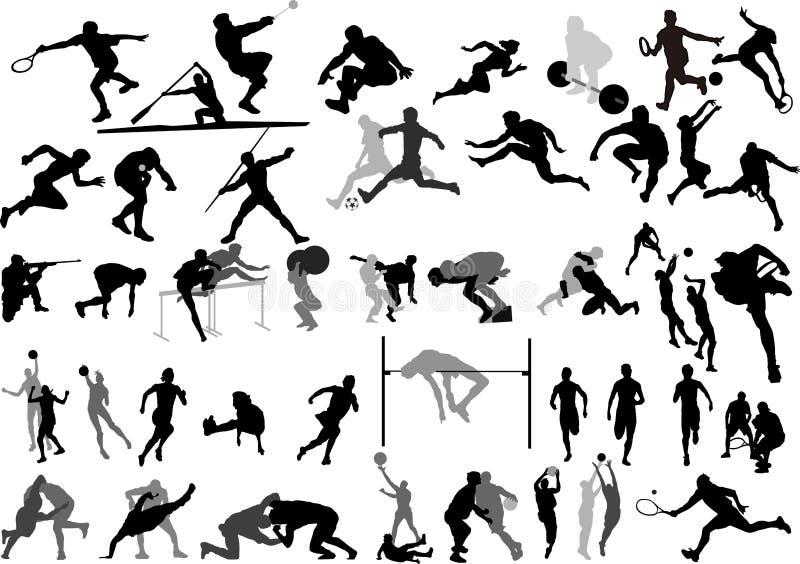 αθλητικό διάνυσμα συλλ&omic διανυσματική απεικόνιση