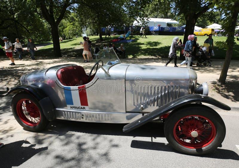 Αθλητικό εκλεκτής ποιότητας αυτοκίνητο του Amilcar 1926 στην επίδειξη στη βασιλική αυτοκινητική λέσχη του 2019 της προθήκης οχημά στοκ φωτογραφία με δικαίωμα ελεύθερης χρήσης