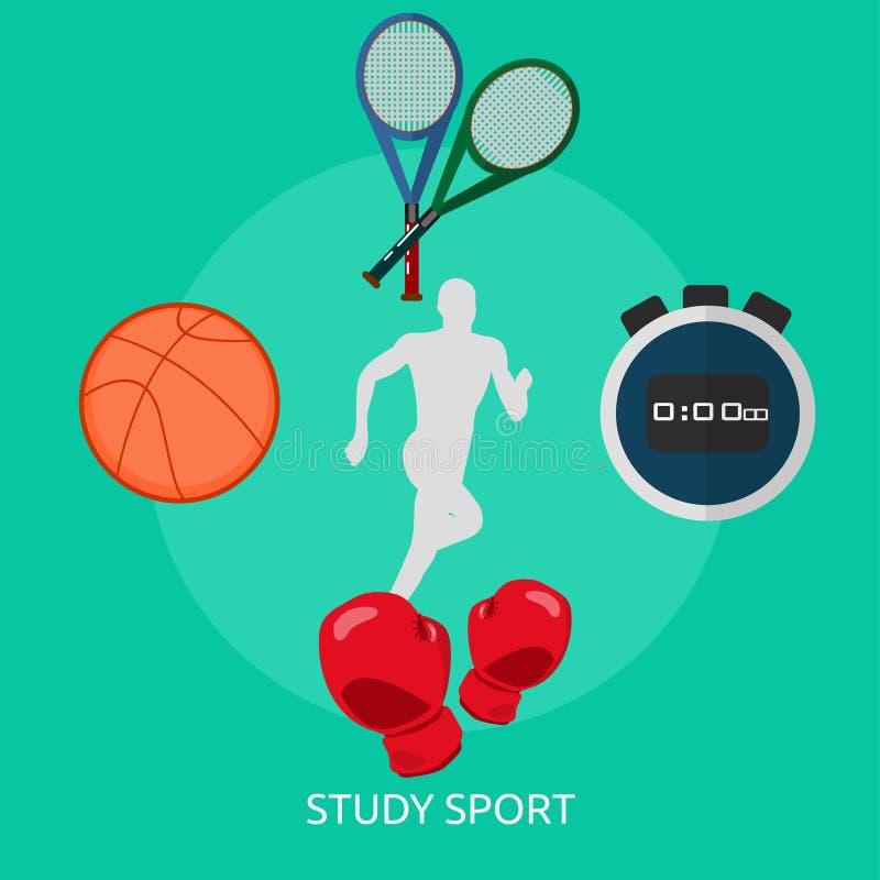 Αθλητικό εννοιολογικό σχέδιο μελέτης ελεύθερη απεικόνιση δικαιώματος