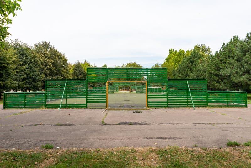 Αθλητικό Κέντρο `Jezero' στην Κινσί της Σερβίας Γήπεδο ποδοσφαίρου στοκ φωτογραφία