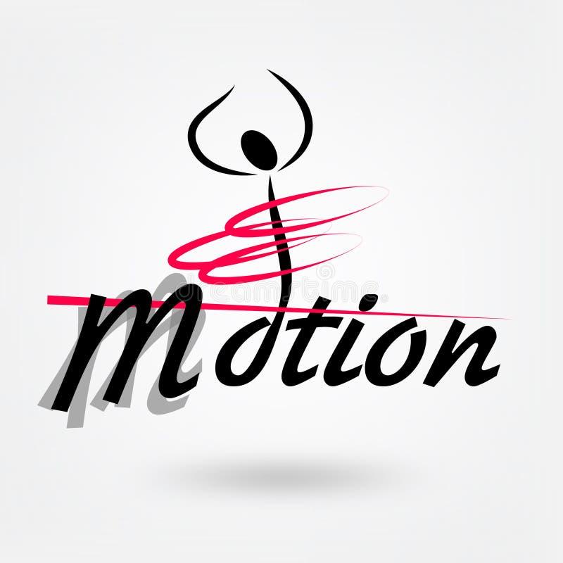 Αθλητικό λογότυπο κινήσεων απεικόνιση αποθεμάτων