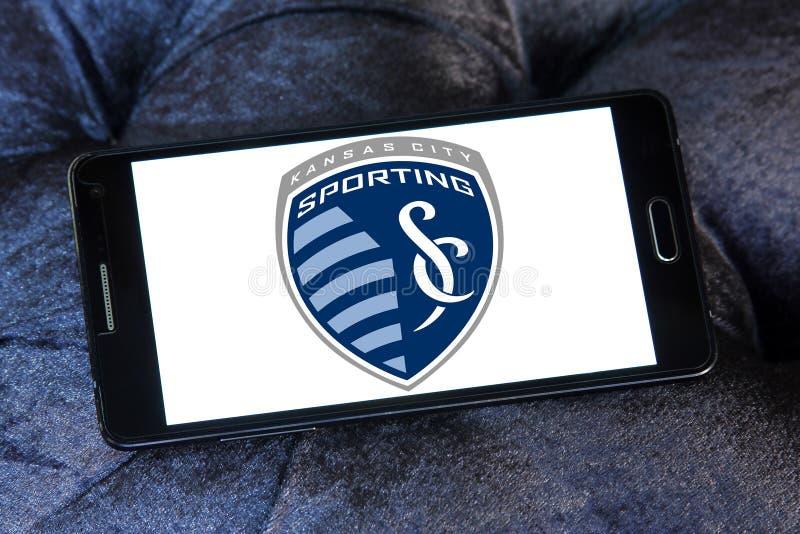 Αθλητικό λογότυπο λεσχών ποδοσφαίρου πόλεων του Κάνσας στοκ εικόνα