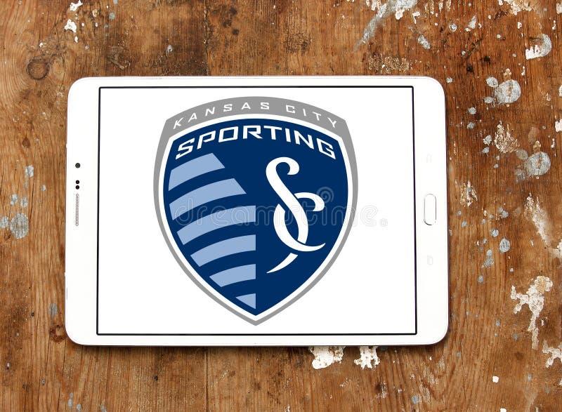 Αθλητικό λογότυπο λεσχών ποδοσφαίρου πόλεων του Κάνσας στοκ φωτογραφία