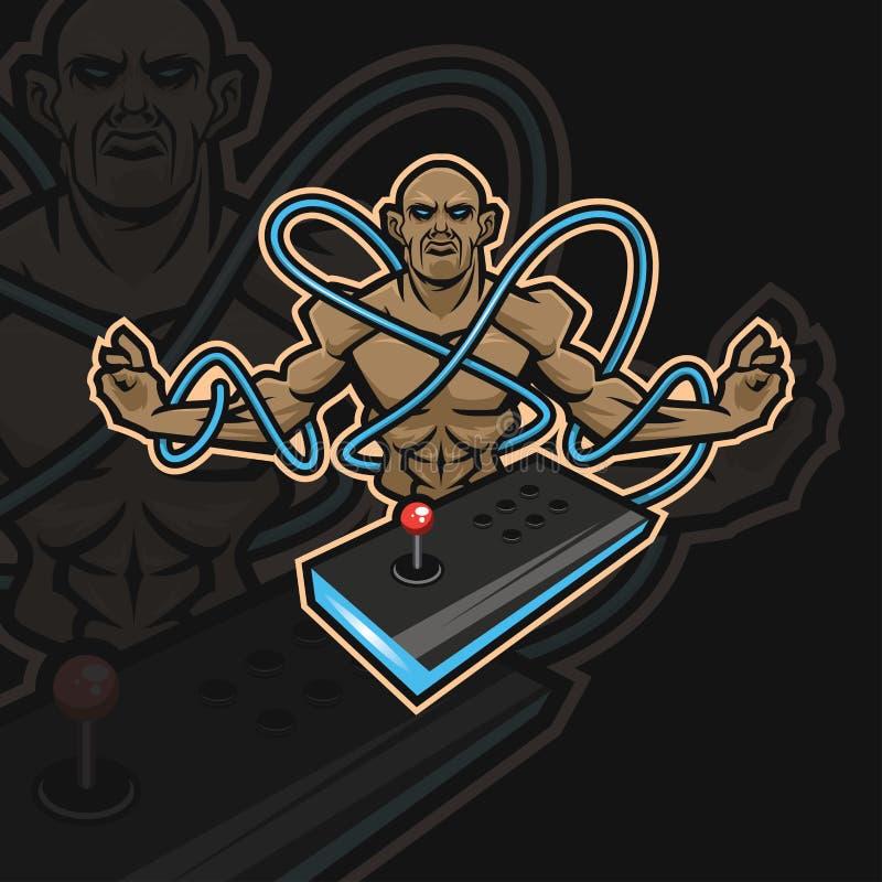 Αθλητικό λογότυπο μοναχών ε διανυσματική απεικόνιση