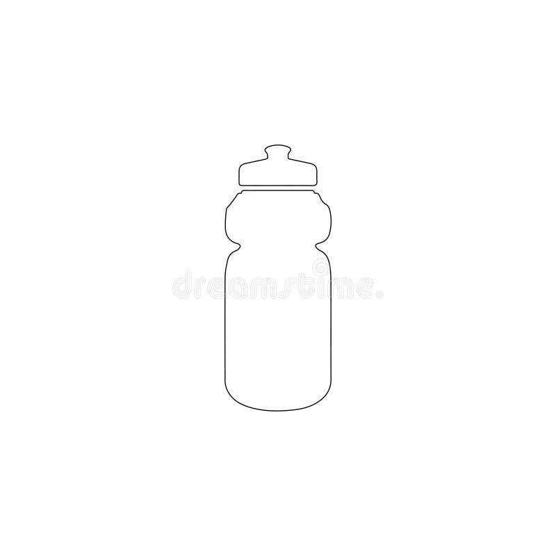 Αθλητικό μπουκάλι νερό επίπεδο διανυσματικό εικονίδιο ελεύθερη απεικόνιση δικαιώματος