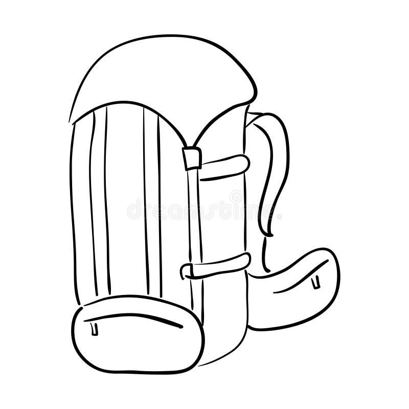 Αθλητικό σακίδιο Ο μαύρος αθλητισμός τοποθετεί σε σάκκο, διανυσματικά deportes που το σακίδιο, παπούτσια bagful για τις αποσκευές διανυσματική απεικόνιση