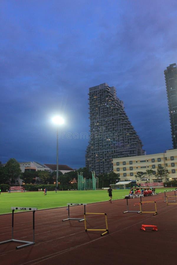Αθλητικό στάδιο στη Σιγκαπούρη, Ασία στοκ εικόνα