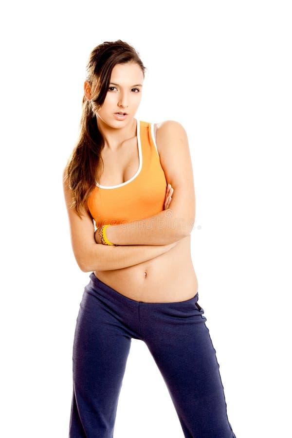αθλητικό όμορφο κορίτσι στοκ εικόνες