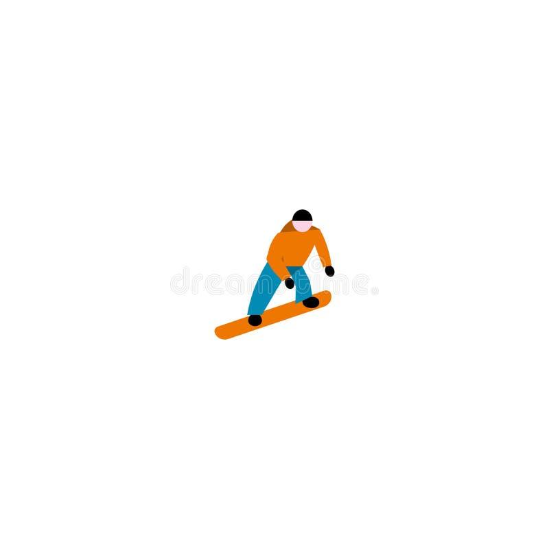 Αθλητισμός άλματος Snowboarder r ελεύθερη απεικόνιση δικαιώματος