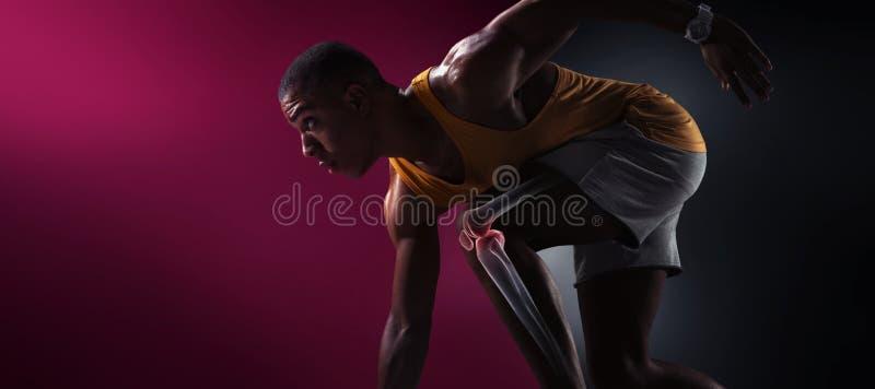 αθλητισμός Απομονωμένος δρομέας αθλητών στοκ φωτογραφίες με δικαίωμα ελεύθερης χρήσης