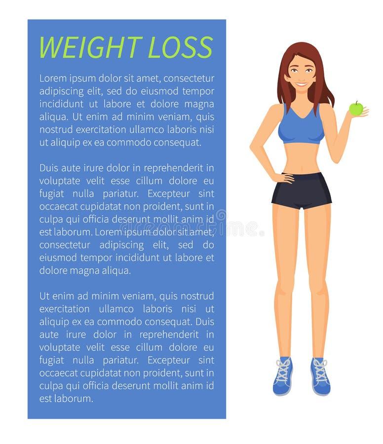 Αθλητισμός απώλειας βάρους και διανυσματική απεικόνιση διατροφής διανυσματική απεικόνιση