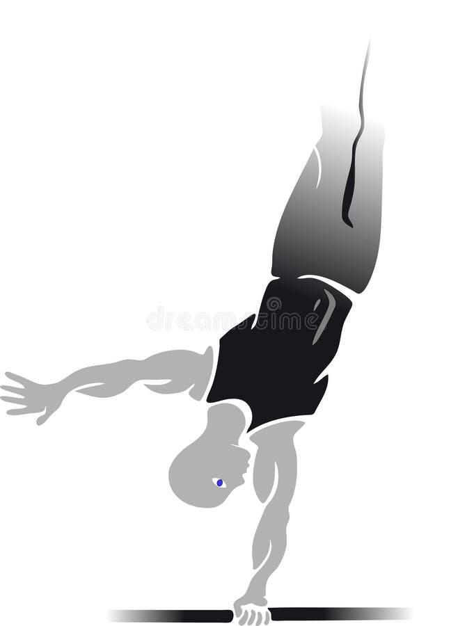 Αθλητισμός & γυμναστική διανυσματική απεικόνιση