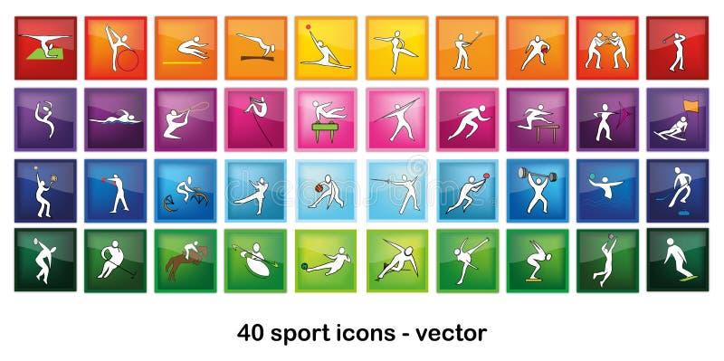 αθλητισμός εικονιδίων διανυσματική απεικόνιση