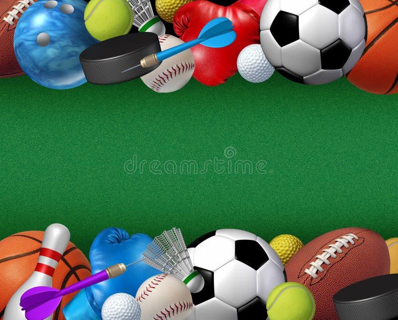 Αθλητισμός και σύνορα δραστηριοτήτων διανυσματική απεικόνιση