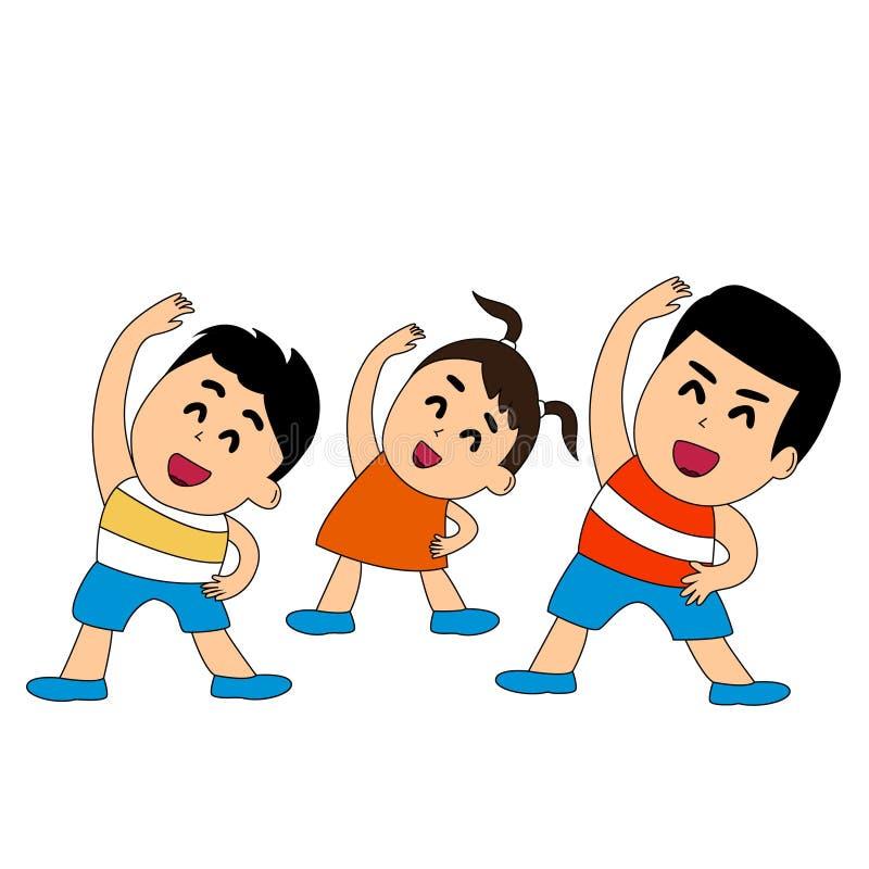 Αθλητισμός με τα παιδιά διανυσματική απεικόνιση