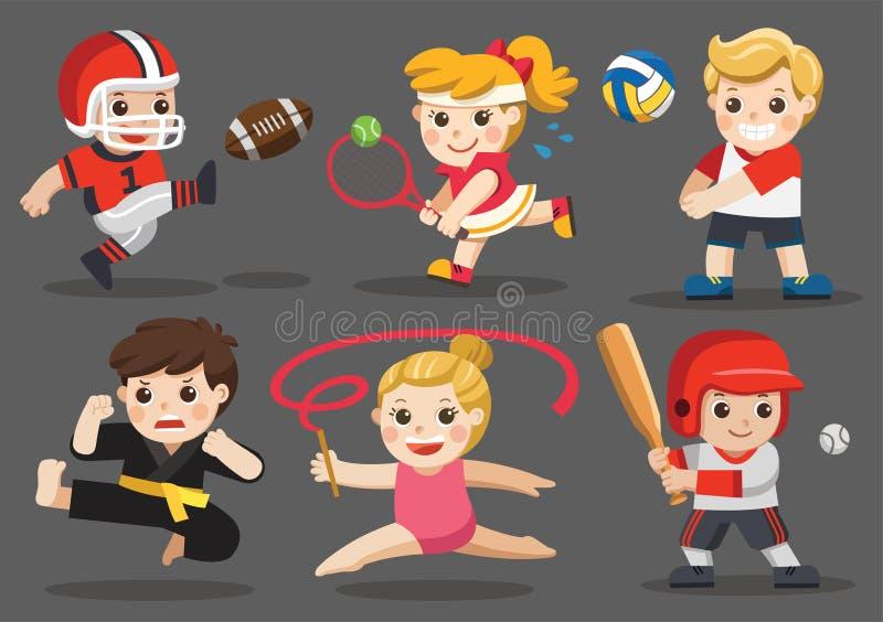 Αθλητισμός ομάδας για τα παιδιά διανυσματική απεικόνιση