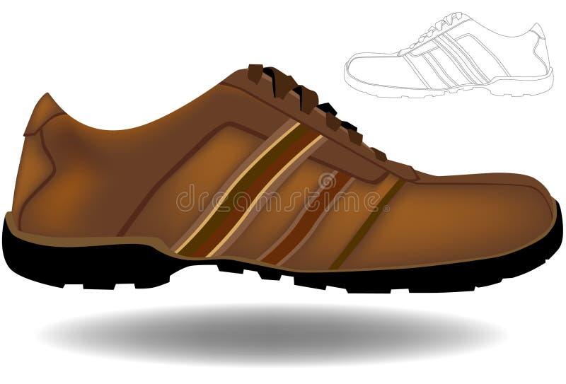 αθλητισμός παπουτσιών το διανυσματική απεικόνιση