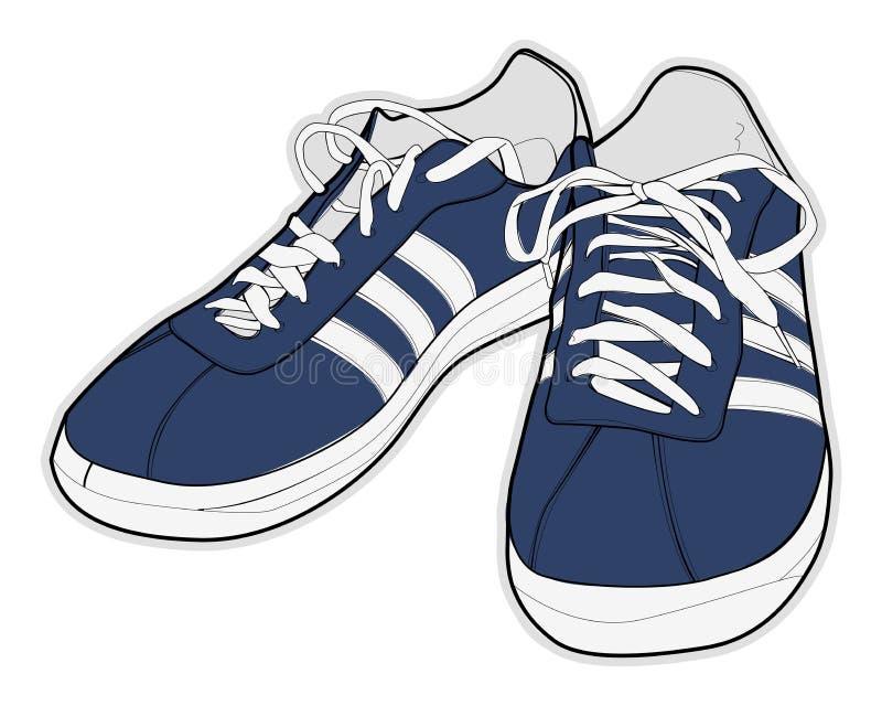 αθλητισμός παπουτσιών διανυσματική απεικόνιση