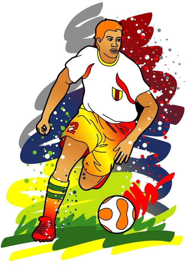 αθλητισμός ποδοσφαίρου σειράς ποδοσφαιριστών απεικόνιση αποθεμάτων