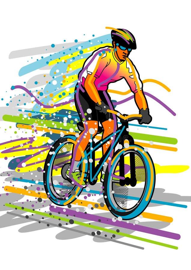 αθλητισμός σειράς Bicyclist Στοκ Εικόνα