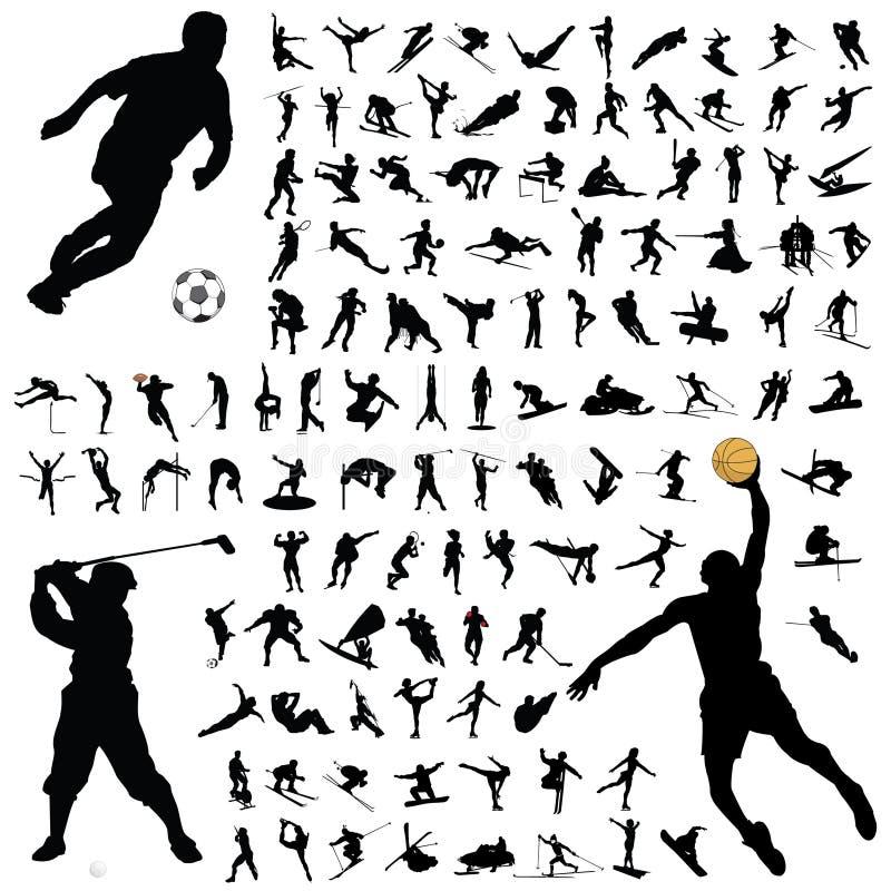 αθλητισμός σκιαγραφιών σ& ελεύθερη απεικόνιση δικαιώματος