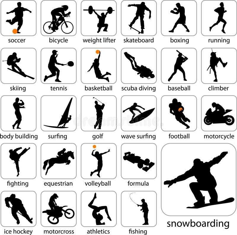 αθλητισμός σκιαγραφιών απεικόνιση αποθεμάτων