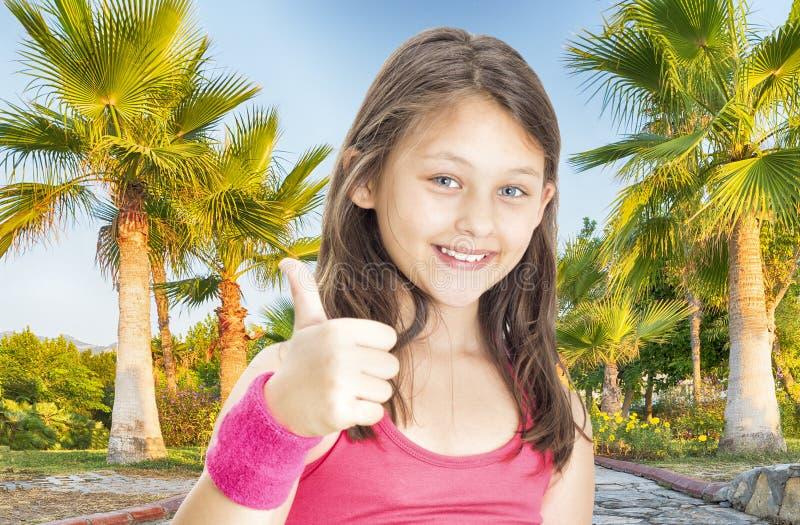Αθλητής κοριτσιών παιδιών στοκ φωτογραφίες