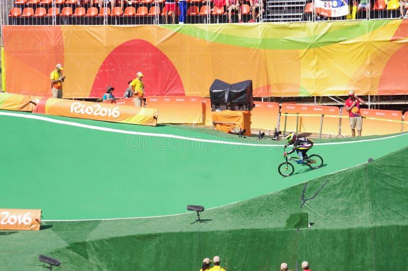 Αθλητής Mariana Pajon BMX στοκ εικόνα