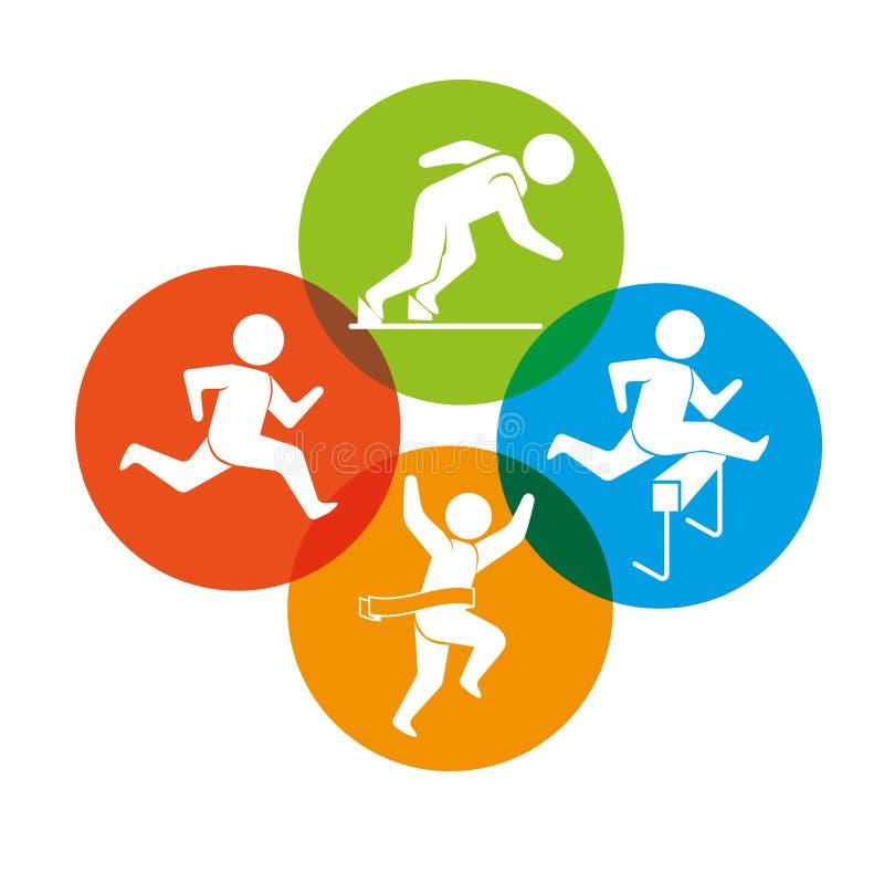 Download Αθλητικά παιχνίδια και τρόπος ζωής ικανότητας γραφικός Απεικόνιση αποθεμάτων - εικονογραφία από παιχνίδι, ικανότητα: 62702480