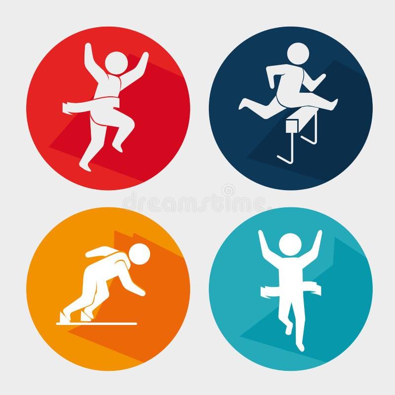 Download Αθλητικά παιχνίδια και τρόπος ζωής ικανότητας γραφικός Απεικόνιση αποθεμάτων - εικονογραφία από εννοιολογικός, ηθοποιών: 62702524