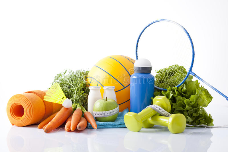 Αθλητικά στοιχεία, τρόφιμα ικανότητας στοκ εικόνες με δικαίωμα ελεύθερης χρήσης