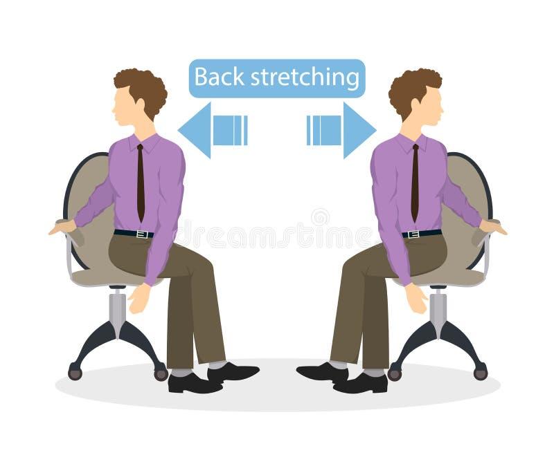 Αθλητικές ασκήσεις για το γραφείο απεικόνιση αποθεμάτων