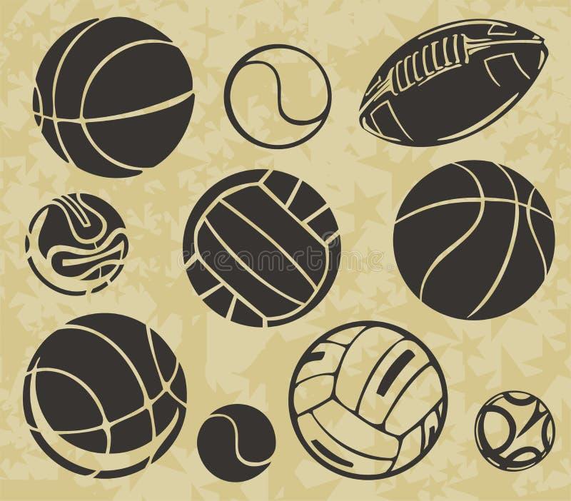 Αθλητικές σφαίρες - διανυσματικό σύνολο διανυσματική απεικόνιση