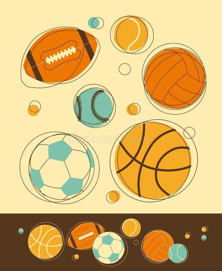 Αθλητικές σφαίρες απεικόνιση αποθεμάτων