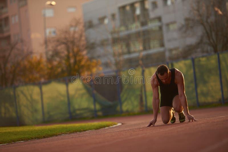 Αθλητική έναρξη ατόμων στοκ φωτογραφία με δικαίωμα ελεύθερης χρήσης