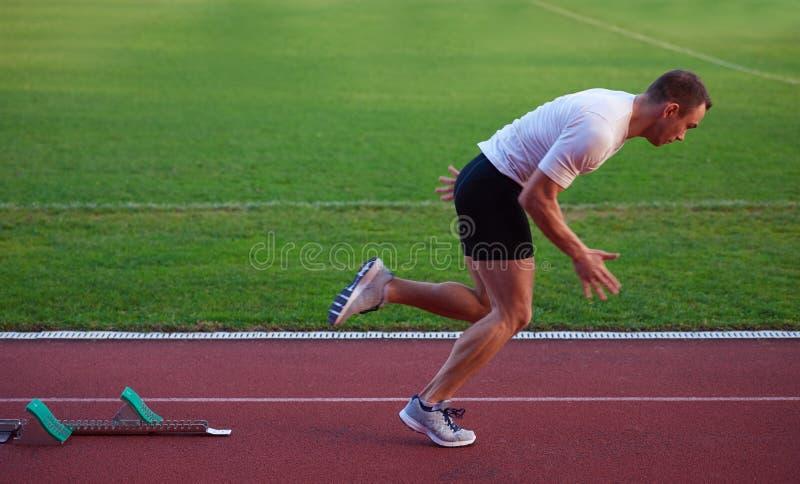 Αθλητική έναρξη ατόμων στοκ φωτογραφία