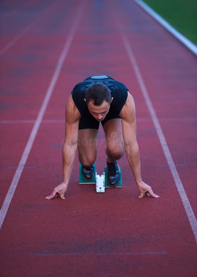 Αθλητική έναρξη ατόμων στοκ εικόνα