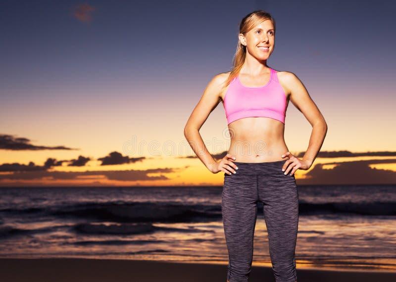 Αθλητική γυναίκα ικανότητας στοκ εικόνες