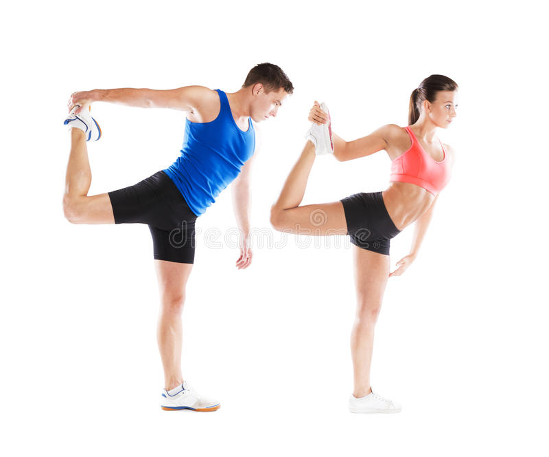 Αθλητικοί άνδρας και γυναίκα στοκ εικόνα με δικαίωμα ελεύθερης χρήσης