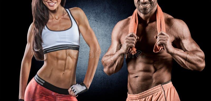 Αθλητικοί άνδρας και γυναίκα στοκ φωτογραφίες με δικαίωμα ελεύθερης χρήσης
