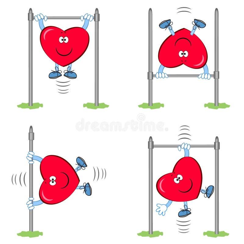 Αθλητικός τύπος καρδιών ελεύθερη απεικόνιση δικαιώματος