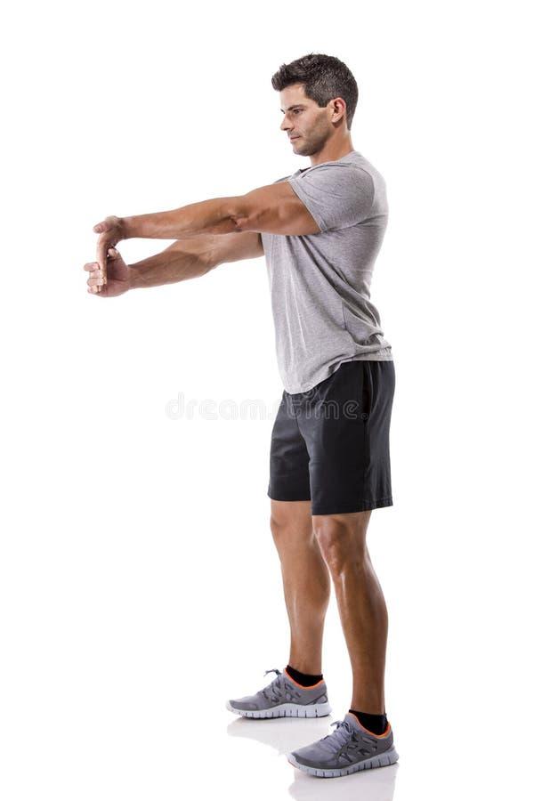 Αθλητικό άτομο που κάνει τις ασκήσεις στοκ εικόνες