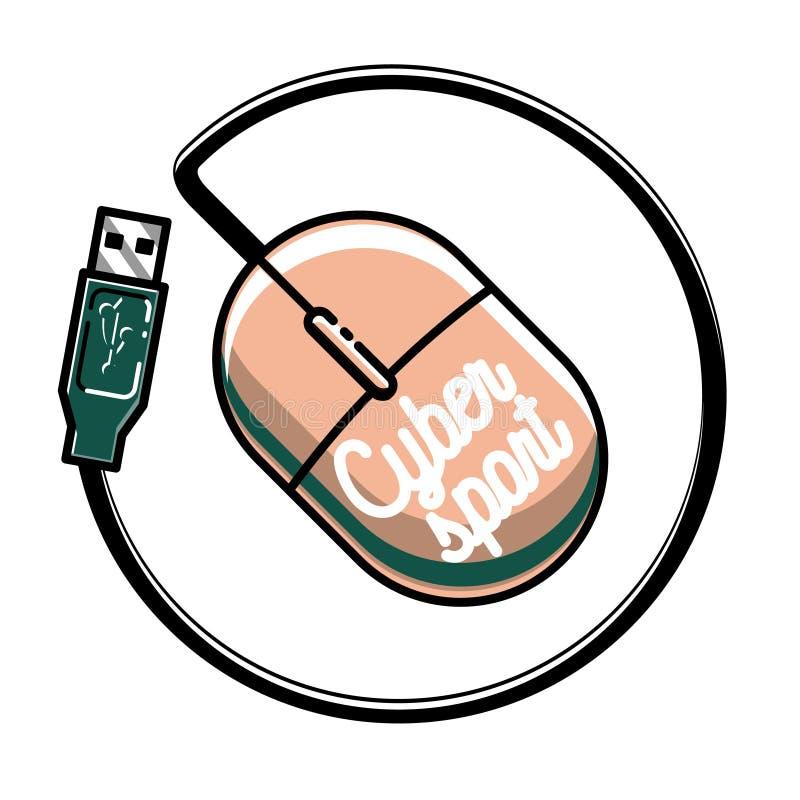 Αθλητικό έμβλημα cyber χρώματος εκλεκτής ποιότητας ελεύθερη απεικόνιση δικαιώματος