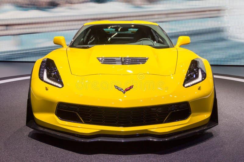 Αθλητικό αυτοκίνητο δρομώνων Chevrolet Z06 στοκ φωτογραφία με δικαίωμα ελεύθερης χρήσης