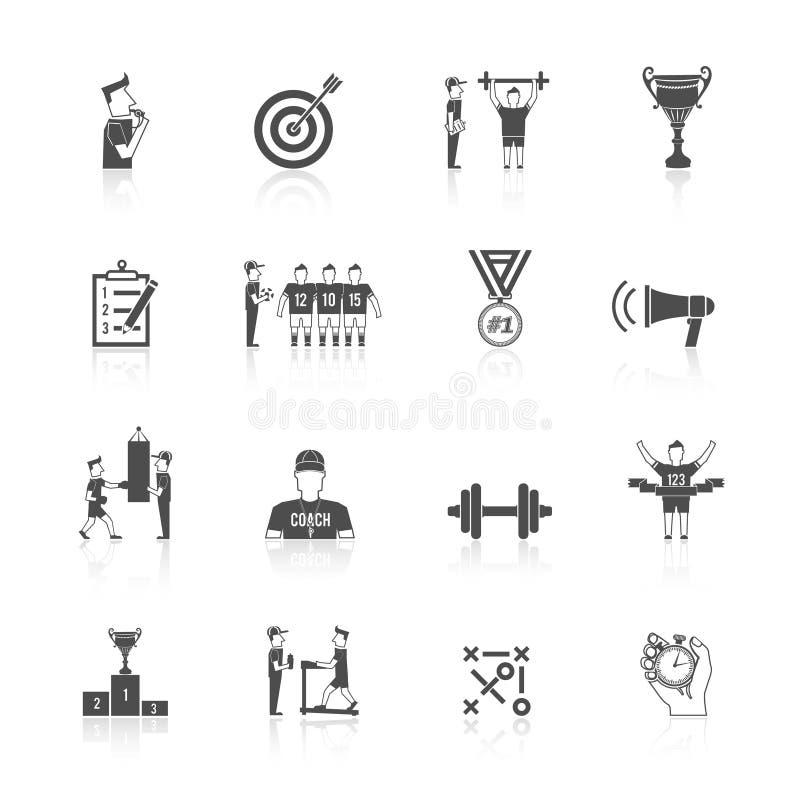 Αθλητικό εικονίδιο προγύμνασης ελεύθερη απεικόνιση δικαιώματος