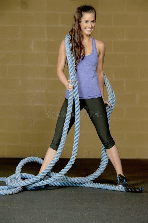 Αθλητικό θηλυκό πρότυπο στοκ φωτογραφία